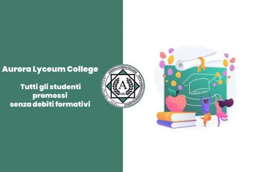 Aurora Lyceum College: tutti gli studenti promossi senza debiti formativi